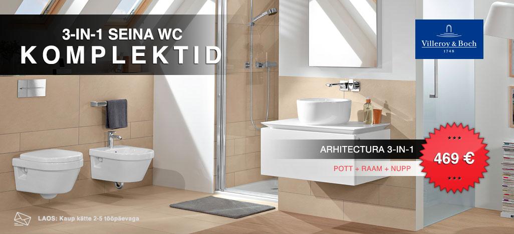 Villeroy & Boch seina WC komplektid