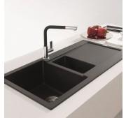 Köögisegisti Franke BAT Neptune-Evo kroom/must väljatõmmatava käsidušiga