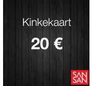 Kinkekaart 20 euro väärtuses