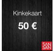 Kinkekaart 50 euro väärtuses