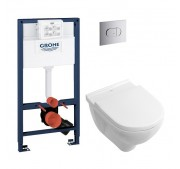WC-komplekt Villeroy & Boch + Grohe