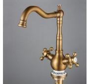 Kõrge valamusegisti Wasser Victorian Bronze