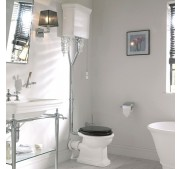 Retro WC-pott Burlington Standard valge alumiinium High